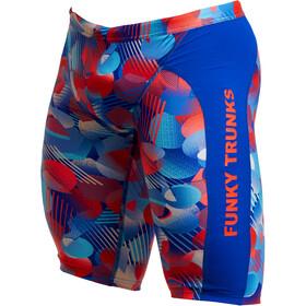 Funky Trunks Training Jammers Men, blu/rosso